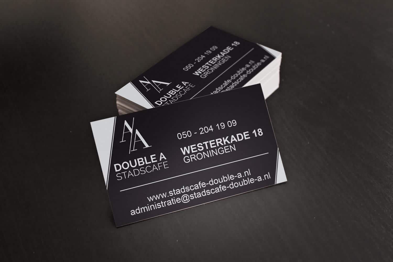 Stadscafé Double A drukwerk