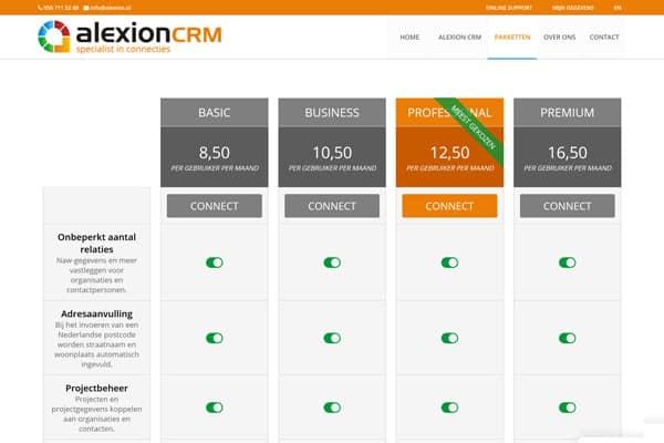 Website Alexion CRM