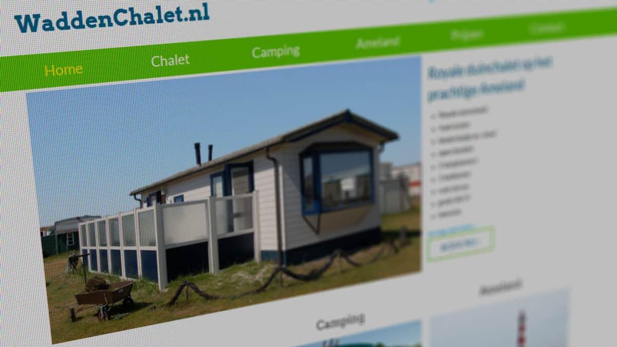 Wadden Chalet website